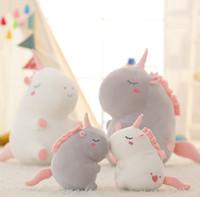 peluche de licorne moelleuse achat en gros de-Peluche peluche Licorne jouets Caractère Licorne en peluche douce Peluche Licorne en Peluche Poupées pour enfants cadeau Enfants Jouet GGA236