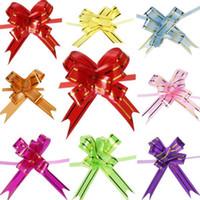 cinta decorativa flores al por mayor-Tire cintas del arco 1000pcs Navidad / boda / fiesta de aniversario del embalaje del regalo del tirón del arco cintas cintas decorativas del tirón del día de fiesta del tirón