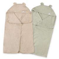 toallas de bebé recién nacido al por mayor-Toalla de baño infantil de algodón de color orgánico con sombrero Toalla de ducha extra grande de nacimiento recién nacido