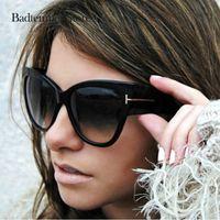 óculos de sol cruzados venda por atacado-Badtemper legal óculos de sol para as mulheres de luxo moda tom óculos sexy cruzado vintage eyewear feminino oculos feminino de sol