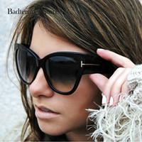 крест солнцезащитные очки оптовых-Badtemper прохладный солнцезащитные очки для женщин роскошные мода Tom Sexy очки пересекли старинные очки женский oculos feminino де соль