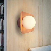led kapalı tavan fikstürü toptan satış-Yaratıcı Tavan Lambası Sözleşmeli LED Cam Demir Kapalı Işık Süslemeleri Aydınlatma Restoran AV110-265v Modern Işık Fikstürü