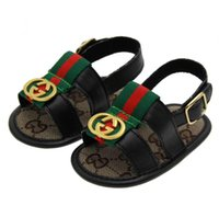 Wholesale kids first walker shoes - New Style Summer Kids Boys pu First Walker Shoe Baby Fashion Non-slip Shoes