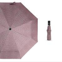 sombrilla comercial al por mayor-Nueva completamente automática Tres paraguas plegable unisex compacto comercial a gran marco fuerte a prueba de viento suave 8Ribs viaje Paraguas 056