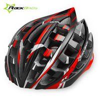 ingrosso casco di montagna giallo-ROCKBROS MTB Bicycle Cycling Helmet 36 Air Safety Ciclismo EPS Ultralight Helmet Road Mountain Bike Rosso Blu Giallo 35