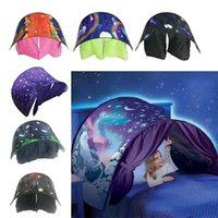 Wholesale Fancy Folding - Kid Baby Dream Tent Fantasy Foldable Unicorn Moon White Clouds Cosmic Space Snow Tent Fancy Sleeping Prop Without Night Light 2110193
