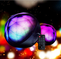 Wholesale Mobile Ball - 2018 new color ball crystal magic ball wireless Bluetooth speaker card mini mobile phone subwoofer Bluetooth audio