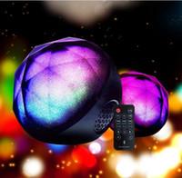 Wholesale magic ball bluetooth - 2018 new color ball crystal magic ball wireless Bluetooth speaker card mini mobile phone subwoofer Bluetooth audio