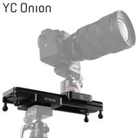 mini kamera tasarımı toptan satış-YC ONION Mini Kamera DSLR Dolly Slider Taşınabilir Tasarım Video Kamera Parça Slider Ile Ayarlanabilir Sönümleme Için Kamera Telefonu Gopro