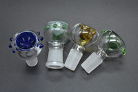 bal tarağı yüksek kaliteli bong toptan satış-Yüksek kaliteli cam kabarcık kase kadın erkek slayt ekran cam bong için 14mm 18mm bal tarak ile kuru ot kase için kül catcher su boruları