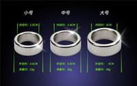 anel de dispositivo de castigo masculino de aço inoxidável venda por atacado-3 pçs / lote 26 28 30mm glande anéis de pênis anel de galo de aço inoxidável suave dispositivo de castidade masculino manga pênis adultos brinquedos do sexo para o homem