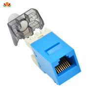 sorties informatiques achat en gros de-2pcs / lot UTP CAT6 module de réseau connecteur d'information connecteur RJ45 prise d'ordinateur sortie IO adaptateur de câble Keystone Jack