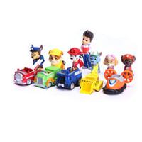 ingrosso auto di partito di compleanno-12 pezzi 3.5-6 cm Puppy Dog action figure Dolls Anime Car Puppy Toy regalo Bomboniere per la festa di compleanno Kid Boy Girl