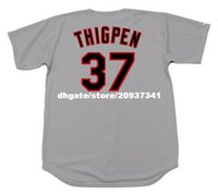 Wholesale Majestic Throwback Jerseys - Cheap Custom #37 BOBBY THIGPEN Chicago Stitched 1990 Majestic Throwback Away Baseball Jersey Retro Mens Jerseys