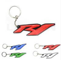 ingrosso anello chiave del motociclo 3d-4 colori accessori opzionali 3D gomma morbida moto portachiavi moto portachiavi moto portachiavi catena chiave per yamaha yzf r1