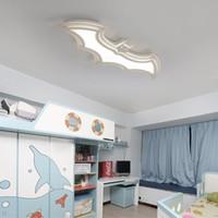 batman llevó luces al por mayor-Batman llevó luces de techo para la habitación de los niños Dormitorio balcón decoración para el hogar AC85-265V acrílico moderna lámpara de techo led para sala de niños-RNB16