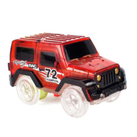 Wholesale play tracks - 1pcs Electronics LED Car Toys Flashing Lights Boys Birthday Gift Kids Toy Play with Tracks Together