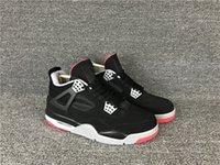 ingrosso pallacanestro all'aperto di alta qualità-Sconto 4 allevato IV OG nero rosso basso uomini scarpe da basket sneakers sportive scarpe da ginnastica scarpe da ginnastica outdoor di alta qualità 7-12