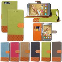 Wholesale iphone 5c flip cases for sale – best Hybrid Canvas Flip PU Leather Wallet Stand Case TPU Cover For Huawei Honor A A X X C C A NOVA2 Lite Y5 II Enjoy S S