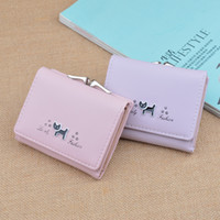 Wholesale pink money clips - 2018 New style Short wallets Women lovely wallets Casual Coin Purses Lady Credit Card money clip girl student Mini Wallets Wholesale
