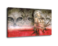 Wholesale female figure oil painting - Luis Royo Fantasy Art Alternative Female Warrior,Oil Painting Reproduction High Quality Giclee Print on Canvas Modern Home Art Decor 3910