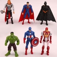 Wholesale model toys for boys - 6pcs   set 10cm super hero the avengers figures pvc model toy spider man iron man thor action toy gifts for boys