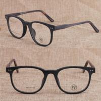 ingrosso gradiente nero cornici per occhiali rotonda uomini-Montatura per occhiali Vintage fatta a mano Uomo Donna Occhiali Full Circle Miopia Rx able 314