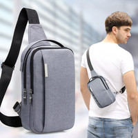 Wholesale waterproof cross body outdoor bag - Outdoor Sports Men's Waist Bags Waistpacks Single Shoulder Cross Body Bags Waterproof Zipper Canvas Mobile Phone Belly Bags Multi-functional
