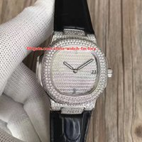 Wholesale champagne gems - Topselling Best Quality DM Factory 40.5mm Nautilus 5719 1G-001 18k Gold Full Diamond Bezel CAL.324SC Movement Automatic Mens Watch Watches