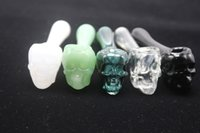 Wholesale handle skull smoking pipe resale online - Glass Oil Burner Pipes For Smoking Glass Handle Pipes Colorful Pyrex Skull Glass Oil Burner Water Hand Pipe For Smoking