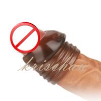 luvas de castidade masculina venda por atacado-Adulto Diário Masculino Castidade Parafuso Tipo Foreskin Corrigir Galo Anel Sex Toys Para Homens Ejaculação Atraso Glan Penis Manga Cockring