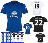 Wholesale Dress Rips - New Thai quality players Edition Soccer Jerseys 2018 MIRALLAS NAISMITH SANDRO ROONEY away Home Everton Football Shirt polyester dresses men