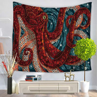 Wholesale High Quality wall tapestry style multifunction octopus printing tablecloth bed sheet beach towel nice home decoration party supplies