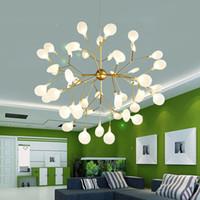подвесные светильники спальня оптовых-Современные светодиодные люстры Nordic блеск Люминер промышленные светильники для гостиной Спальня промышленные подвесные светильники 110-240 В