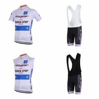 Wholesale fast bib - QUICK STEP Cycling Short Sleeves jersey (bib) shorts Sleeveless Vest sets Latest Summer Fast Drying MTB Bicycles Ropa Ciclismo A41939