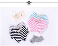 Wholesale New Sweet Girls - shorts 4 color 2018 INS new arrival baby kids spring summer cute striped printed shorts sweet cotton pants free shipping