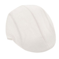 ingrosso berretto bianco per gli uomini-2016 Nuove donne bianche Uomini Newsboy Duckbill Driving Cap piatto Cabbie Lino Beret Hat Boina Casual