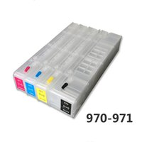 чипы для hp картриджей оптовых-970 971 4colors for hp970 971 Refillable ink cartridges Empty compatible for X451dn X551X476dn X576without chips