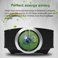 micro projecteur sd achat en gros de-Projecteur Mini LED haute définition domestique YG500, résolution maximale 1920 * 1080. Interface: AV / VGA / USV / SD / HDMI / Micro USB