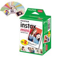 anlık kameralar toptan satış-Fujifilm Instax Mini Beyaz Film Anında Fotoğraf 20 Yaprak Paketi - FUJI 7s 8 9 25 50s 70 90 Fotoğraf Kağıdı - PAYLAŞ SP-1 SP-2
