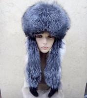 Sombrero de invierno de los hombres de las mujeres con orejeras 100% piel  de zorro real Lei Feng Caps Sombrero súper cálido con todo lujo de piel de  zorro ... 1232cde5991
