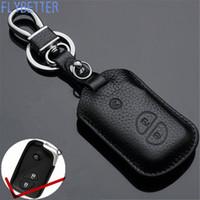 lexus leather key großhandel-Echtes Leder Fernbedienung Schlüsselanhänger Fall Für Lexus ES250 / RX270 / RX350 3Button Smart Schlüsselhalter L1871