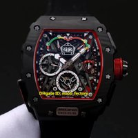 Wholesale Mens Canvas Watches - Luxury High Quality RM50-03 McLaren F1 Forged Carbon Caseback KVF Skeleton Dial Miyota Automatic Mens Watch Canvas Leather Strap Gents Watch