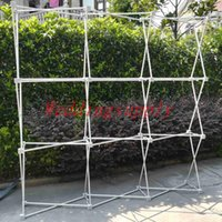 Wholesale good backdrops resale online - Flower Wall Stand Aluminum Flower Backdrop Frame Good Quality m x2 m