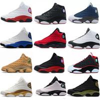 Wholesale size 14 shoes for sale - Group buy 13 s mens basketball shoes Phantom Hyper Royal Italy Blue Bordeaux Flints Chicago Bred DMP Wheat Olive Ivory Black Cat Men Size