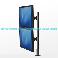 Wholesale desktop lcd monitor mount resale online - SK103A SK103B Desktop Grommet Mount quot Dual Screen Monitor Holder Free Lifting Full Rotation LCD LED TV Mount Bracket