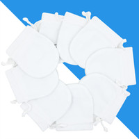 kadife takı poşetleri torbalar toptan satış-Beyaz Takı Kadife Torbalar Çanta Pandora Charms Için Boncuk Gümüş Bilezik Bayan Kolye Kolye Ambalaj Hediye çanta