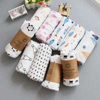 Wholesale wholesale aden anais - Muslin Baby Blankets Aden Anais Swaddles baby Ins Bath Towels Troller Blankets Wraps Newborn Swadding Wrap 33 design 120*120cm KKA4210