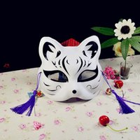 Wholesale fox cosplay online - Cat Fox Shape Masks For Masquerade Cosplay Party Supplies Plastic Resuable Eco Friendly Half Face Mask New Arrival yd B