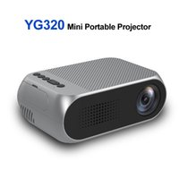 Wholesale mini projector for video games resale online - YG320 Pocket Mini Projector LED Portable Projector Beamer HDM AV P Home Media Player Proyector for Xbox Game Built in Speaker